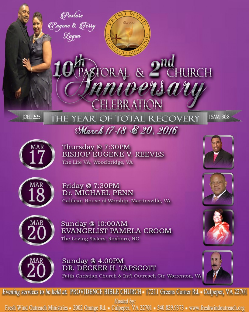 fresh wind outreach ministries 10th pastoral 2nd church 2016 anniversary flyer prefinal draft